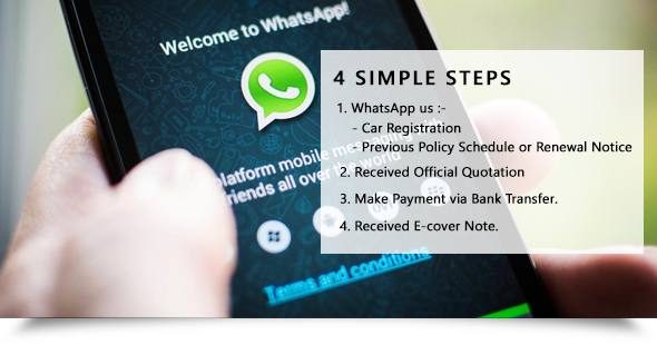 Buy via WhatsApp Renewal Car Insurance